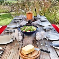 Farm stay accommodation at Packwood - Cheese platter lunches and fresh produce