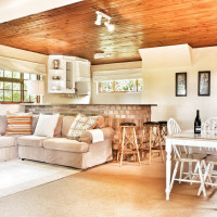 Living space downstairs at Bottlebrush cottage