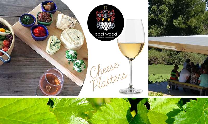 Wine tasting and cheese platters at Packwood