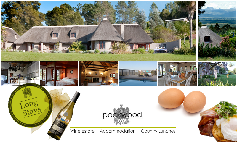 Main house at Packwood wine estate accommodation