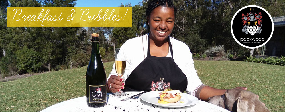 Breakfast and bubbles at Packwood Wine estate