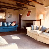 Farm stay accommodation - Morning sunshine in the Sitting Room